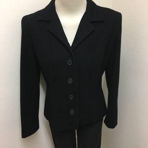 Finity Studio Black Wool Cashmere Blazer Jacket
